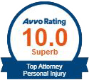 Logo Recognizing The Hart Law Firm's affiliation with AVVO Personal Injury