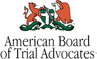 Logo Recognizing The Hart Law Firm's affiliation with American Board of Trial Advocates