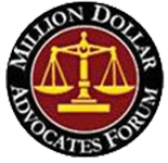 Logo Recognizing The Hart Law Firm's affiliation with Million Dollar Advocates Forum