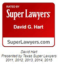 Logo Recognizing The Hart Law Firm's affiliation with Super Lawyers David Hart