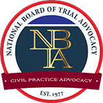 Logo Recognizing The Hart Law Firm's affiliation with Trial Advocacy: Civil Practice