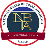 Logo Recognizing The Hart Law Firm's affiliation with Trial Advocacy: Civil Trial
