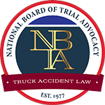 Logo Recognizing The Hart Law Firm's affiliation with Trial Advocacy: Truck Accident